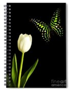 Butterfly And Tulip Spiral Notebook