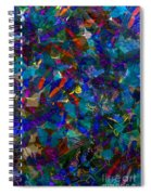 Butterfly Collage Blue Spiral Notebook