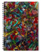 Butterfly Collage Red Spiral Notebook