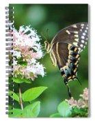 Butterfly Dining  Spiral Notebook