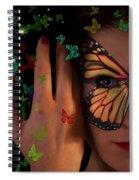 Butterfly Girl Spiral Notebook