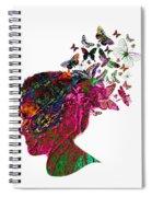 Butterfly Hair Spiral Notebook