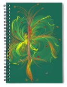 Butterfly In Green Spiral Notebook