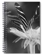 Butterfly In Motion #1952bw Spiral Notebook