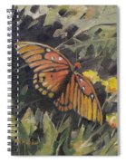 Butterfly Meadow With Yellow Flowers Spiral Notebook