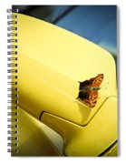 Butterfly On Sports Car Mirror Spiral Notebook