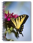 Butterfly Out Of The Blue - Blue Butterfly Art Spiral Notebook