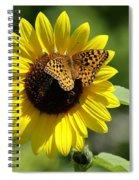 Butterfly Sunflower Spiral Notebook