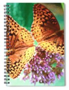 Butterfly Twins Spiral Notebook