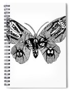Butterfly With Design Spiral Notebook