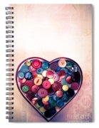 Button Love Spiral Notebook