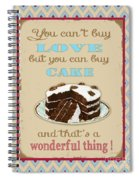 Buy Cake Typography Spiral Notebook