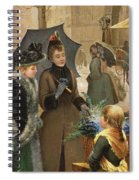 Buying Flowers, 19th Century Spiral Notebook