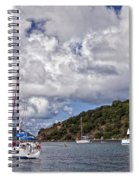 Bvi Clouds Spiral Notebook