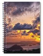 Bvi Sunset   Spiral Notebook