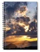Bvi Sunset  Spiral Notebook
