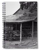 bw Antique Barn Spiral Notebook