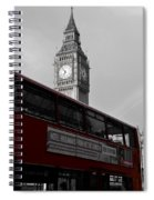 Bw Big Ben And Red London Bus Spiral Notebook