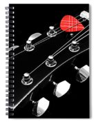 Bw Head Stock With Red Pick  Spiral Notebook