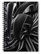 Bw Variegated Agave Spiral Notebook