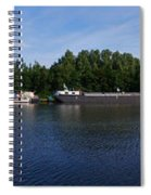 By A Canal Panorama Spiral Notebook