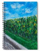 By An Indiana Cornfield The Road Home Spiral Notebook