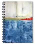 By The Bay- Abstract Art Spiral Notebook