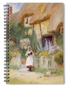 By The Cottage Gate  Spiral Notebook