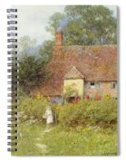 By The Cottage Gate Wc On Paper Spiral Notebook