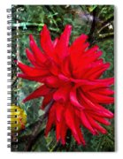 By The Garden Gate - Red Dahlia Spiral Notebook