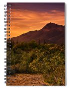 By The Light Of The Sunset Spiral Notebook