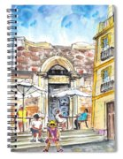 By The Old Cathedral In Cartagena 01 Spiral Notebook