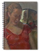 By The Old Mirror, 2009 Oil On Canvas Spiral Notebook