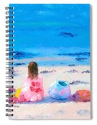 By The Seaside Spiral Notebook