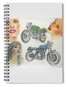 Bykes And Byrds 1 Spiral Notebook