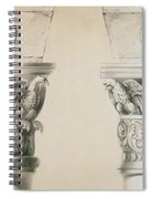 Byzantine Capitals From Columns In The Nave Of The Church Of St Demetrius In Thessalonica Spiral Notebook