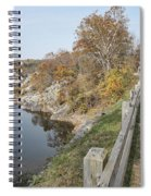 C And O Canal Above And Potomac River Below Spiral Notebook