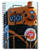 C N R Train 906 Rustic Spiral Notebook