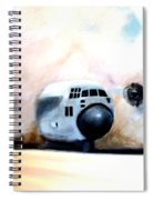 C130 Landing In A Sandstorm Air Force Military Spiral Notebook