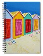 Cabana Row - Colorful Beach Cabanas Spiral Notebook