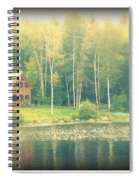 Cabin By The Lake Spiral Notebook