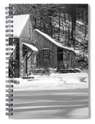 Cabin Fever In Black And White Spiral Notebook