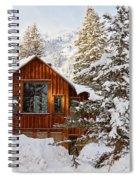 Cabin In Snow Spiral Notebook