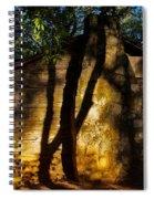 Cabin Shadows Spiral Notebook