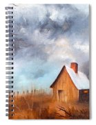 Cabin With Fence Spiral Notebook