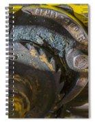 Cable Car Brake Close Up Spiral Notebook