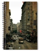 Cable Car In The City Spiral Notebook