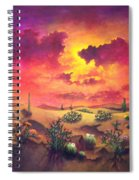 Mystery Of The Desert Spiral Notebook