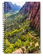 Cacti View Of Zion Spiral Notebook