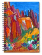 Cacti With Red Rocks And Rr Trestle Spiral Notebook